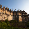RANAKPUR. RAJASTHAN. INDIA. ADINATHA TEMPLE. JAIN TEMPLE SEEN FROM THE OUTSIDE.