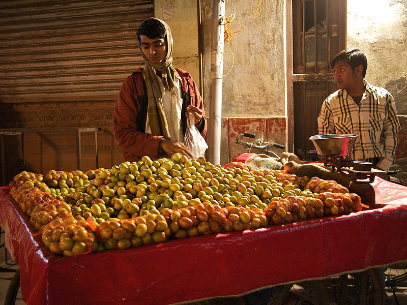 Late Night Fruit Stand - Delhi, India