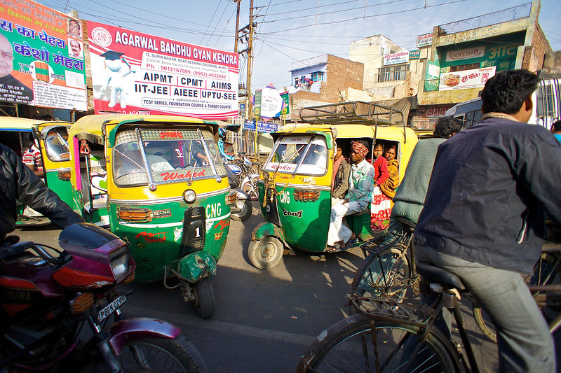 Indian Traffic Jam - Agra, India