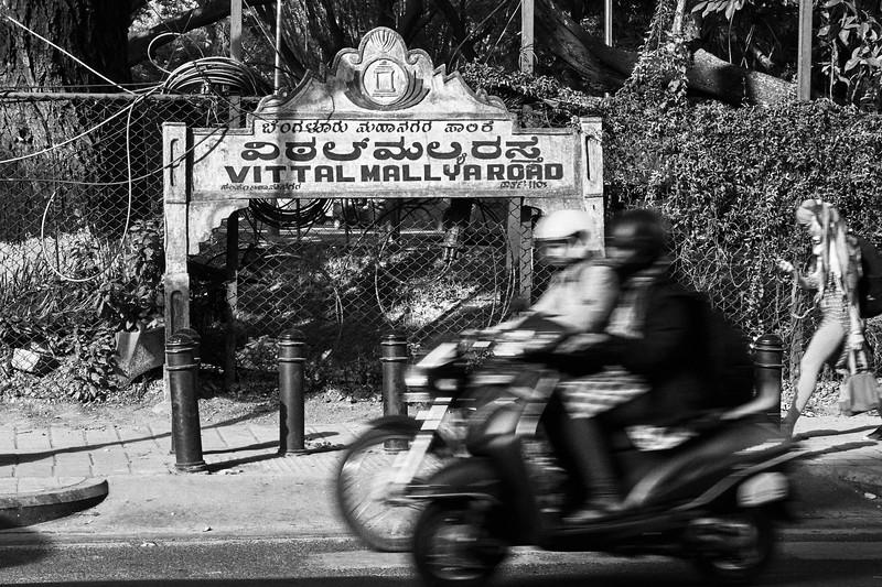 Motion Blur, Vittal Mallya Road - Bangalore, India