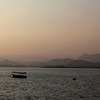 UDAIPUR. RAJASTHAN. SUNSET AT LAKE PICHOLA.
