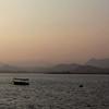 UDAIPUR. RAJASTHAN. SUNSET AT LAKE PICHOLA.