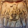 TAMIL NADU. MAMALLAPURAM. VARAHA CAVE TEMPLE. (UNESCO WORLD HERITAGE SITE).