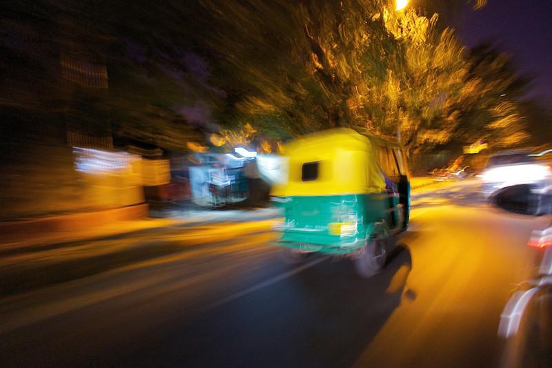 Tuk Tuk Abstract - Delhi, India