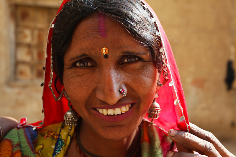 JAISALMER. RAJASTHAN. INDIAN LADY.