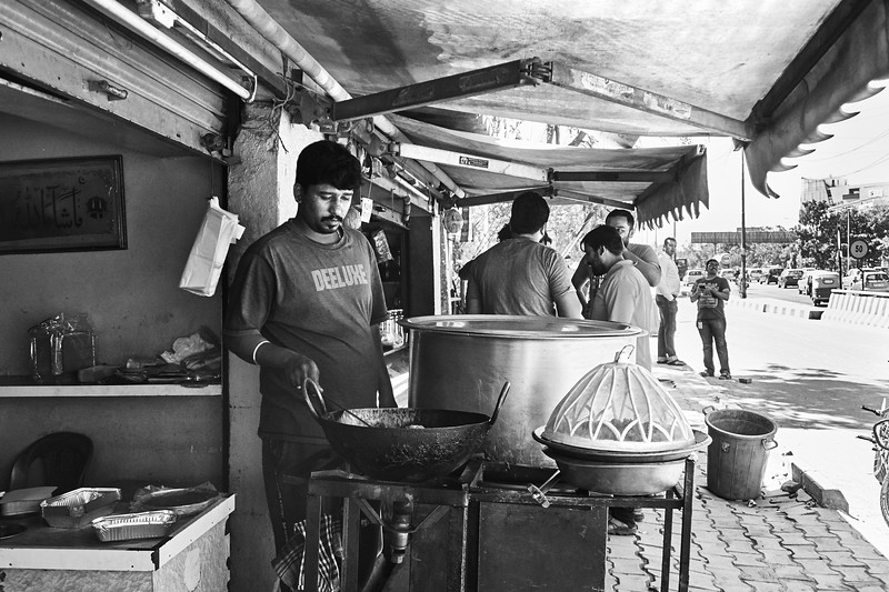 Cooking on the Street - Bangalore, India