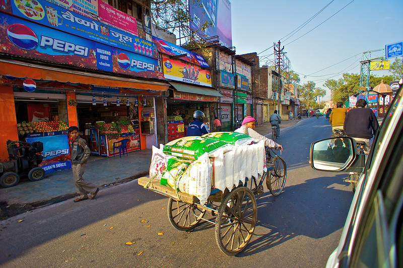 Tricycle Transport - Agra, India