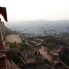 JODHPUR. RAJASTHAN. VIEW AT THE BLUE CITY FROM THE MEHERANGARH FORTRESS.