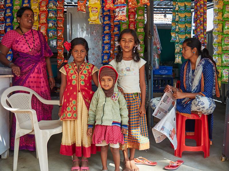 Kids at the Store - Somanathapura, India