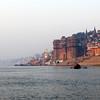 MORNING AT THE GANGES RIVER. BHONSALE GHAT. VARANASI. BENARES. UTTAR PRADESH. INDIA. BHONSALE GHAT. [3]