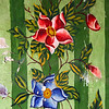 BIKANER. RAJASTHAN. JAIN TEMPLE. DETAIL OF A FLOWER DECORATION.