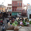 BIKANER. RAJASTHAN. VEGETABLE MARKET. OLD CENTRE.