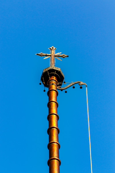 Cross on top of the St Thomas church in Palayur (Palayoor) in  the Thrissur district in Kerala state in southern India, Asia