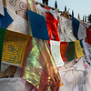 SARNATH. UTTAR PRADESH. PRAYER FLAGS.