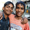 BUNDI. RAJASTHAN. TWO INDIAN TEENAGERS.