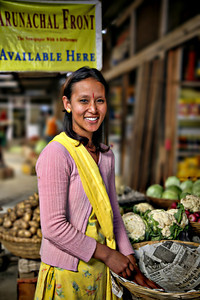 #408 Young Girl at Market