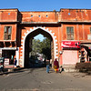 JAIPUR. OLD CITY. PINK CITY. ENTRANCE GATE. RAJASTHAN. INDIA.