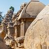 Pancha Rathas (Five Rathas) of Mamallapuram, an Unesco World Heritage Site in Tamil Nadu, South India