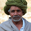RAJASTHAN. RAJASTHAN MAN WITH GREEN TURBAN.