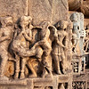 JAIN TEMPLE WITH SCENES FROM THE KAMASUTRA. RANAKPUR. RAJASTAN. INDIA.