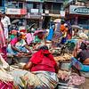 Daily market in Kovalam, Kerala, South India, Asia