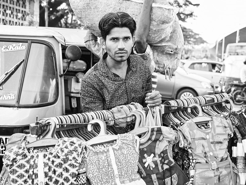 Man with Dresses - Bangalore, India