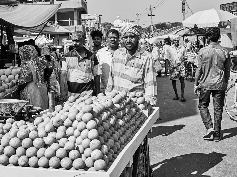 Pushing Potatoes - Mysore, India