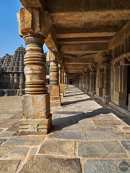 Covered Stone Walkway, Chennakesava Temple - Somanathapura, India