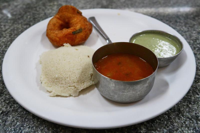Idly and Vada, Breakfast - Road to Mysore, India