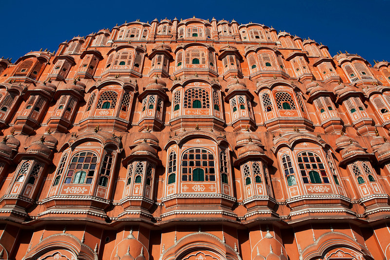 JAIPUR. HAWA MAHAL. [हवा महल. PALACE OF WINDS.] RAJASTHAN. INDIA.