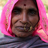 RAJASTHAN. INDIAN LADY WITH NOSE RING.