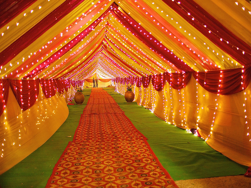 Wedding Tent Entrance - Delhi India & India - atmtx