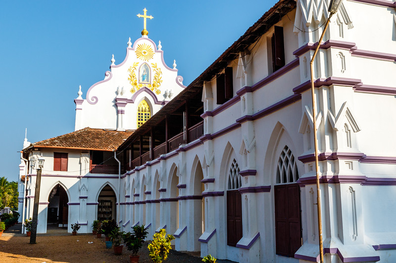 St Thomas church in Palayur (Palayoor) in  the Thrissur district in Kerala state in southern India, Asia