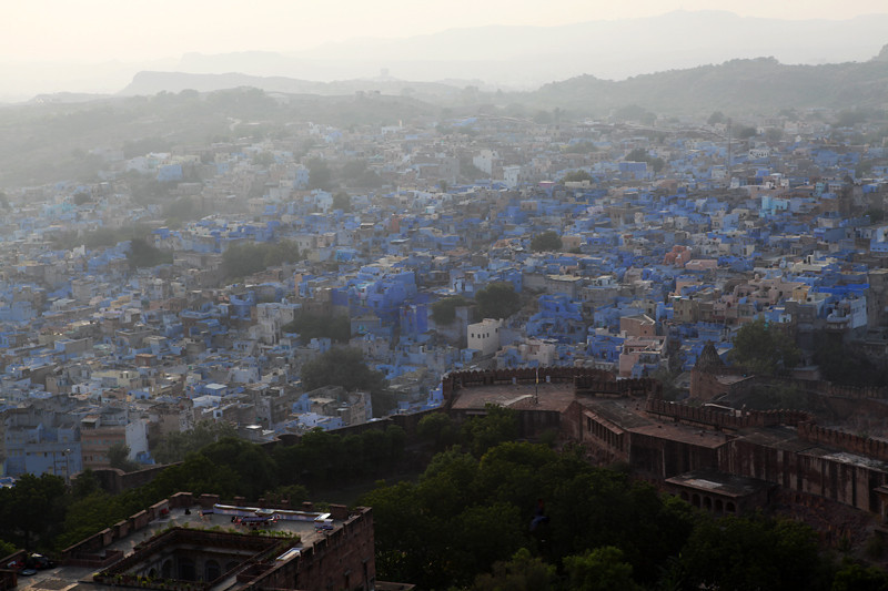 JODHPUR. RAJASTHAN. BLUE CITY. SEEN FROM THE FORTRESS.