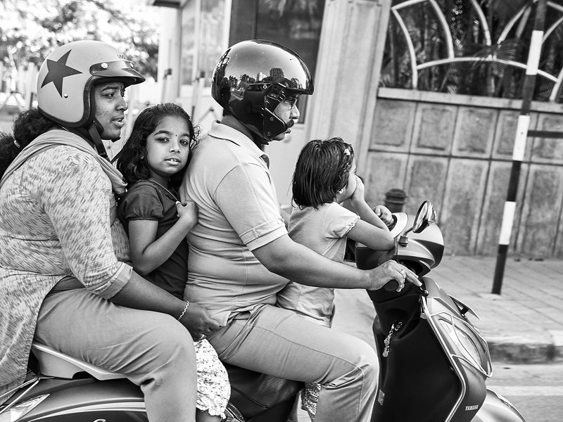 Family on Scooter - Bangalore, India