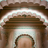 KUMBALGARH. RAJASTHAN. ARCHES INSIDE THE PALACE.