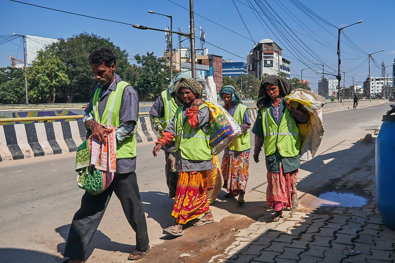 Workers Passing By - Bangalore, India