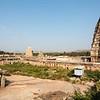 View at the Virupaksha or the Pampapathi temple in Hampi, Karnataka, South India, Asia