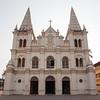 KOCHIN. FACADE OF THE SANTA CRUZ BASILICA CHURCH. FORT COCHIN.