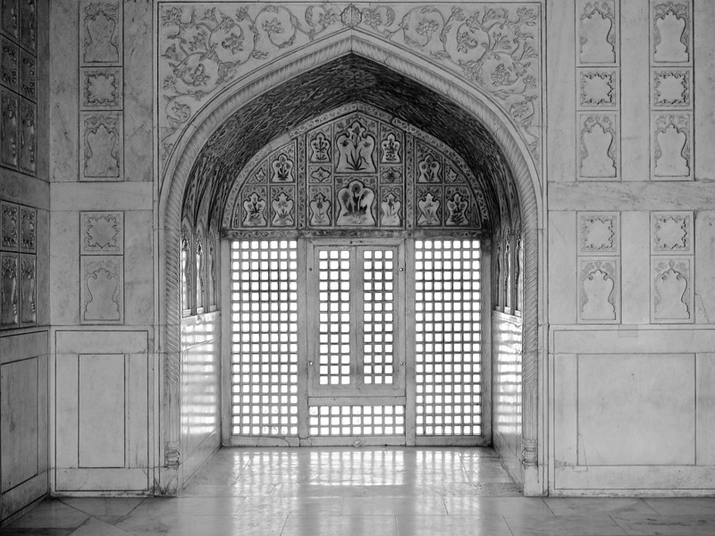 Intricate Marble, Agra Fort - Agra India
