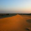 SUNSET AT THE THAR DESERT. KHARI. RAJASTHAN. INDIA.
