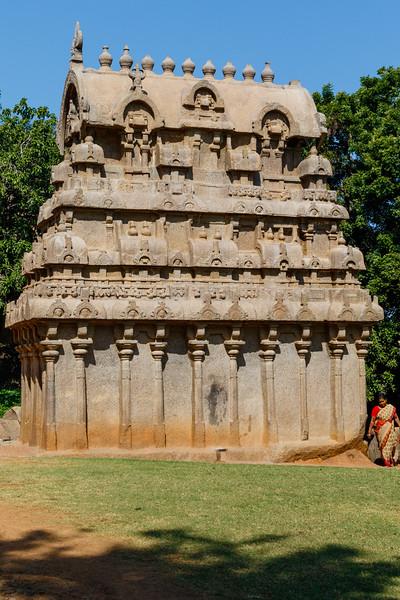 Exterior of the Ganesha Ratha, Mamallapuram, Tamil Nadu, India, Asia