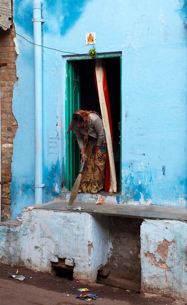 BIKANER. RAJASTHAN. INDIAN LADY.