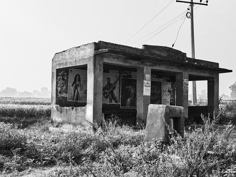 Bus Stop - Road to Mysore, India