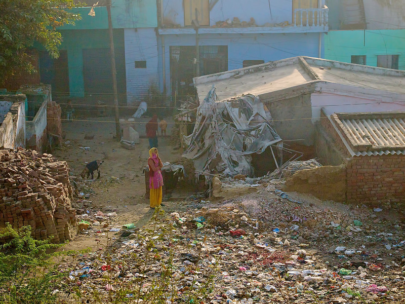 A View of Poverty #1, Shatabdi Express Train - Between Delhi and Agra, India