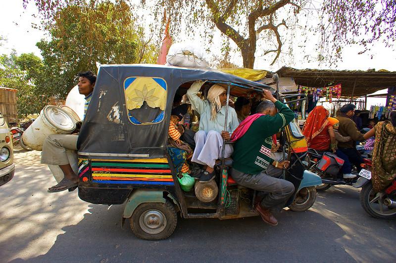 Crowded Auto - Agra, India