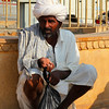 JAISALMER. RAJASTHAN. INDIA. INDIAN MAN WITH WHITE TURBAN.