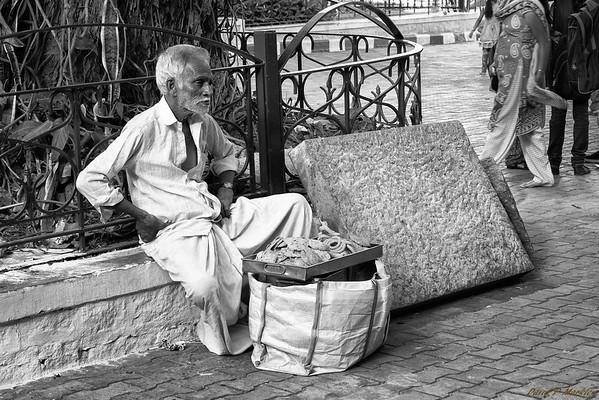 Sitting Salesman