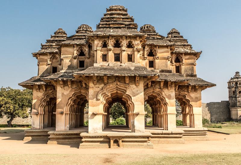 Exterior of the Lotus Mahal (Chitrangi Mahal) in Hampi, Karnataka, India