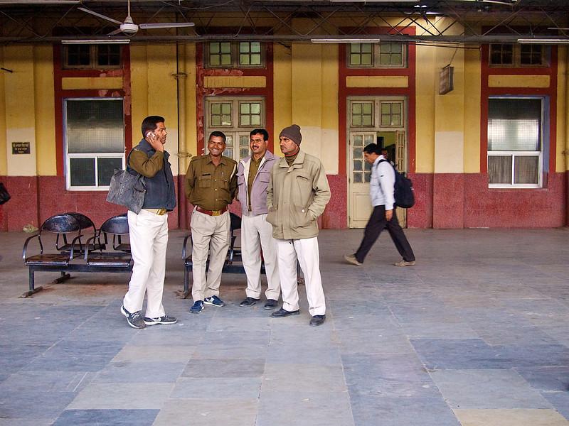Train Station #1, Shatabdi Express Train - Between Delhi and Agra, India